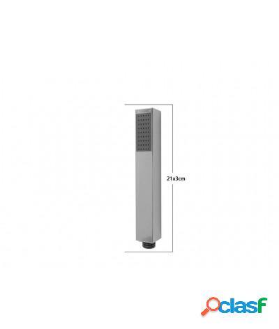 Soffione doccia 3x21 cm doccetta slim monogetto e-69301