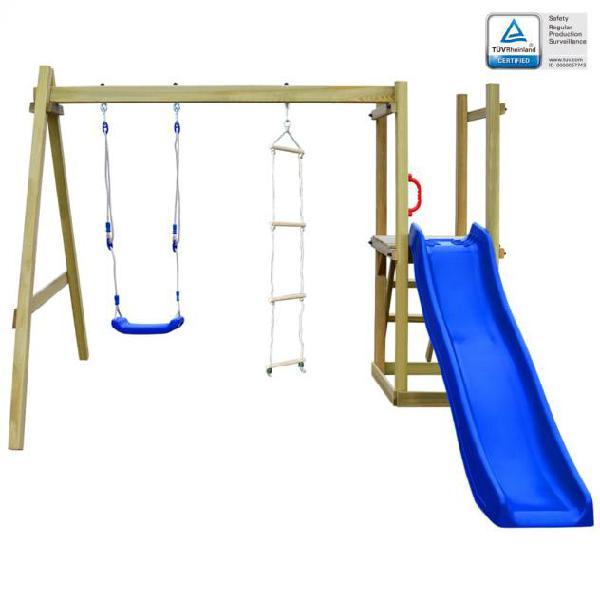 Vidaxl casa gioco con scivolo scale altalena 242x237x175 cm