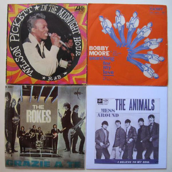 4 dischi originali anni '60 per juke-box