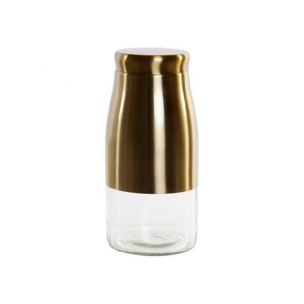 Barattolo di vetro dekodonia dorato (1,6 l)