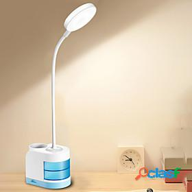 Desk lamp rechargeable / eye protection / adjustable modern contemporary usb powered for bedroom / study room / office dc 5v blue / blushing pink