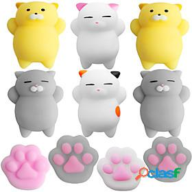 Squishy squishies squishy toy squeeze toy / sensory toy 10 pcs cat claw animal mini stress and anxiety relief kawaii mochi rubber for kid's adults' boys' girls