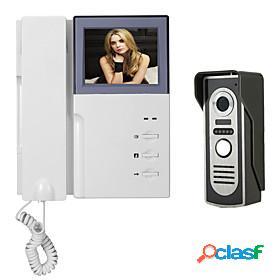 7 inch wire vidoe door phone home security intercom system unlock p451m11