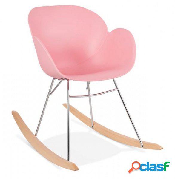 Sedia a dondolo poltroncina polipropilene rosa