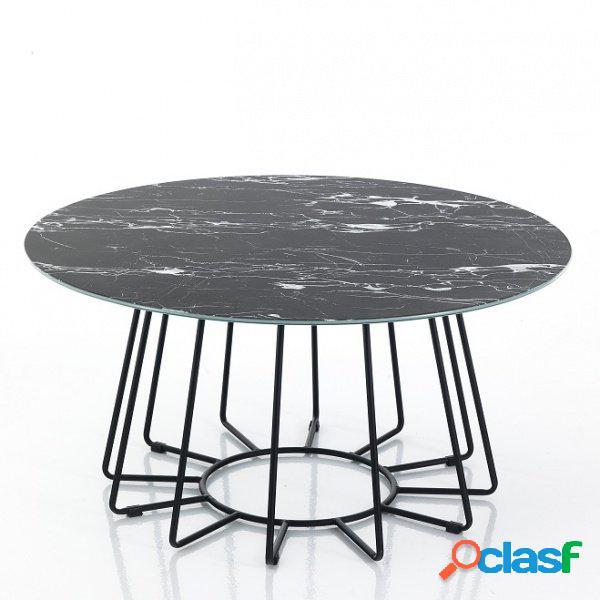 Tavolino big da salotto finitura marmo nero