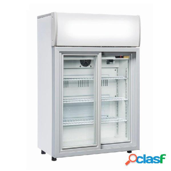Armadio a refrigerazione roll bond per bibite - capacità 85 lt - porta scorrevole - temp. da +1° c a 10° c
