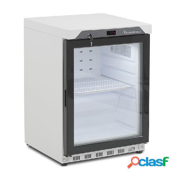 Espositore refrigerato statico digitale temperatura 0°c/+8°c, 120 lt, porta vetro
