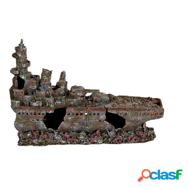 Trixie decorazione in resina relitto nave da guerra 70 cm