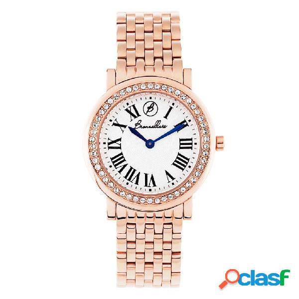Orologio Donna Indici Vintage | ROSE TONE / ONE SIZE - SILVER DIAL / CUBIC ZIRCONIA