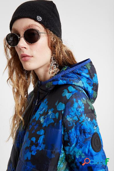 Giacca eco imbottita stampa floreale - blue - xs