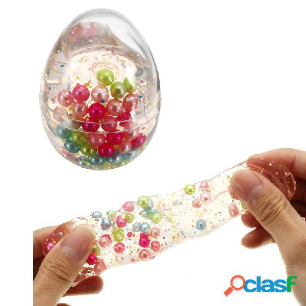 Sollievo dallo stress del fango di cristallo della bottiglia di forma dell'uovo simulato della palla della perla della m