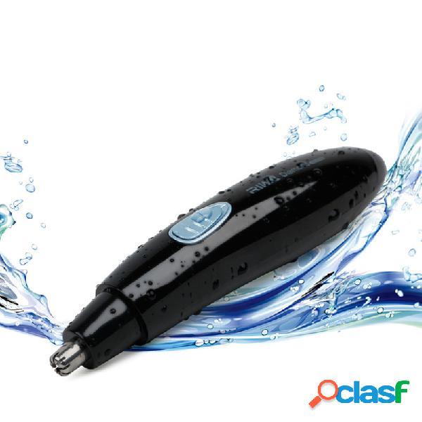 2 in 1 elettrico naso trimmer capelli impermeabile ricaricabile sopracciglia naso naso capelli orecchio trimmer