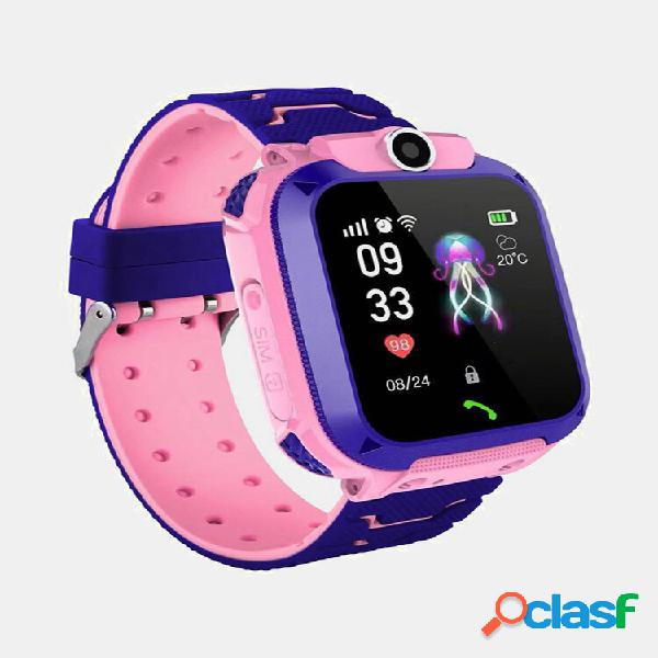 1.4in gps posizionamento hd fotografica messaggio vocale sos anti-perso chilren smart watch phone led touch screen torci