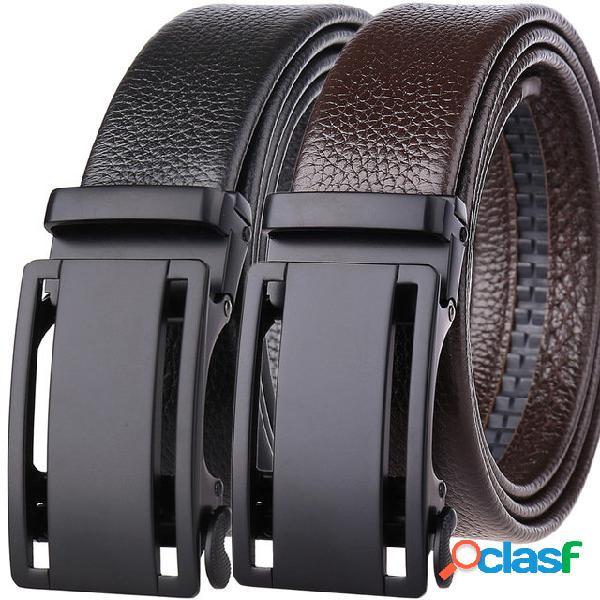 Fibbia automatica cintura in pelle da uomo di alta qualità con bordi di alta qualità cintura