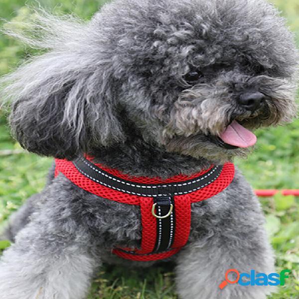 New pet dog cat mesh traspirante comodo cinturino traction corda regolabile corda fibbia catena per cani