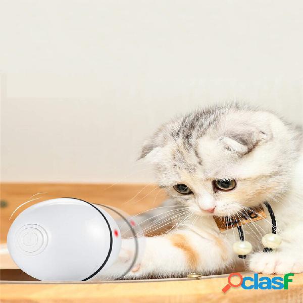 Giocattoli interattivi intelligenti per animali led sfera luminosa ricarica usb smart cat toy automatico 360 gradi