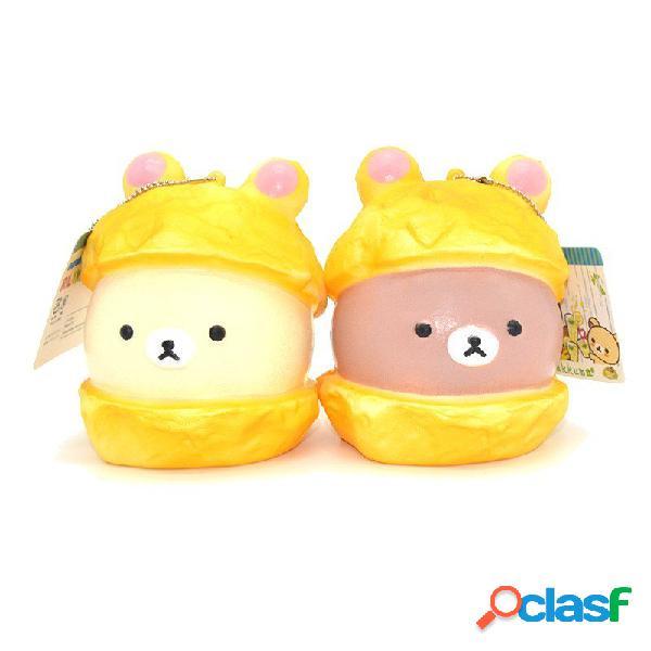 Squishy bear macaron cake 9cm lente raccolta morbida raccolta regalo decorazione giocattolo