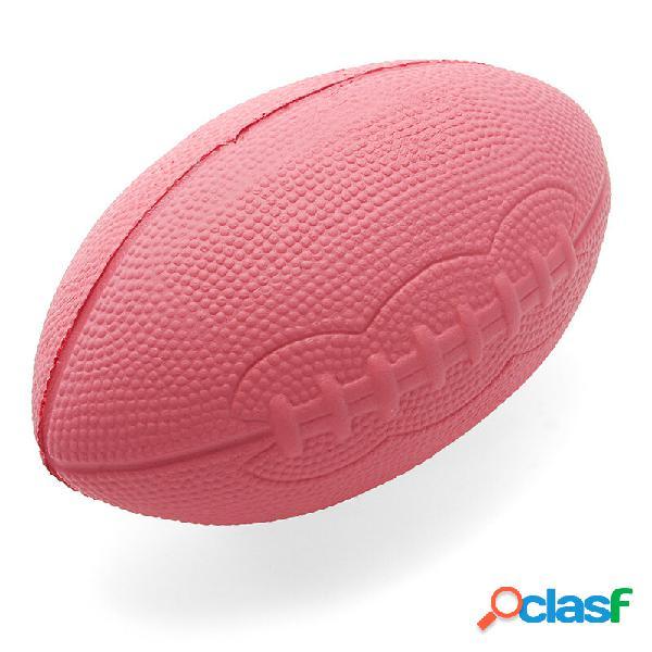 Giocattolo di decorazione regalo del raccoglitore di aumento solido lento del regalo di squishy di rugby del jumbo 15cm