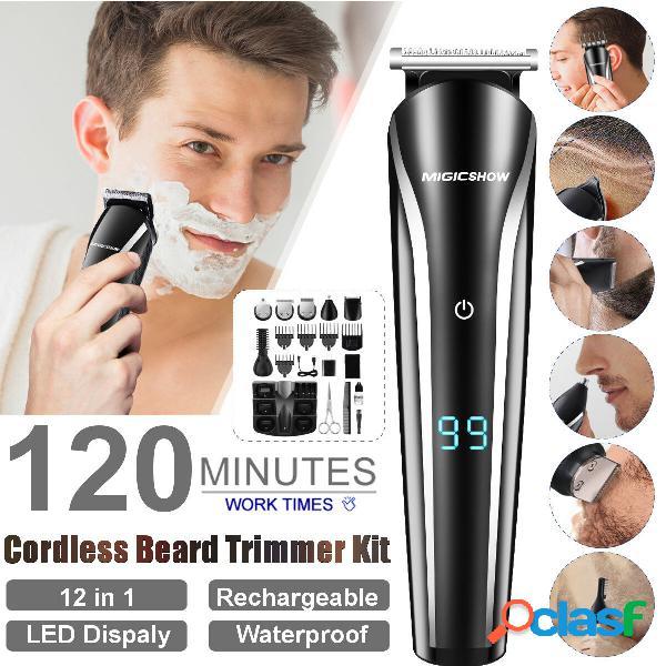 Multifunzione 12-in-1 capelli trimmer usb ricaricabile impermeabile capelli trimmer