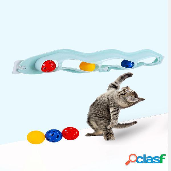 Giocattolo per gatti con palla orbitale a ventosa giocattolo per gatti con puzzle interattivo self-hey