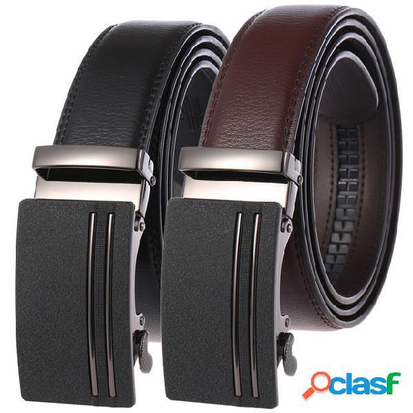 Nuovo uomo in pelle a due strati cintura business cintura fibbia automatica cintura