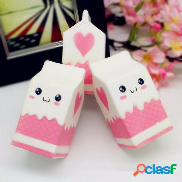 Squishy jumbo rosa bottiglia per il latte scatola 11 cm a lenta crescita soft collezione gift decor toy
