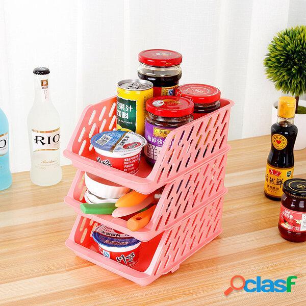 1 pz impilabile regolabile frigorifero cestini portaoggetti frigo organizzatore cassetto portaoggetti cassetto portaogge