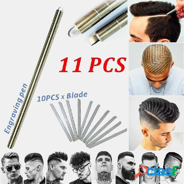 Capelli penna per intaglio professionale capelli trimmer magia incidere la barba capelli trucioli sopracciglia intagliar