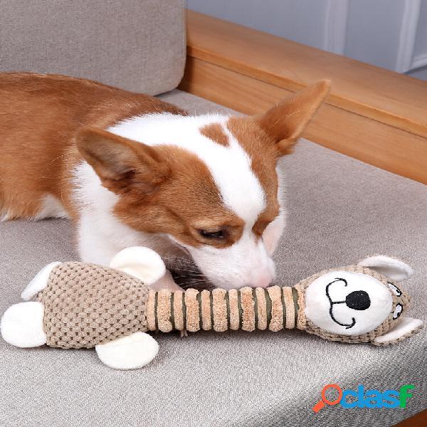 Giocattolo per animali domestici corgi peluche resistente ai morsi di cane giocattolo a forma di animale a collo lungo g
