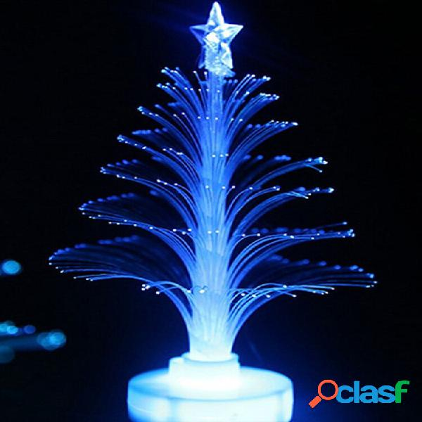 Led lampada colorata con fibra ottica a forma dialbergo di natale decorazione per feste e festival a notte