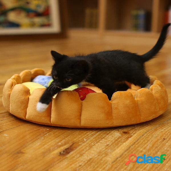 Pet dog cat fruit piatto egg pad mat puppy fruit bed con frutta giocattoli