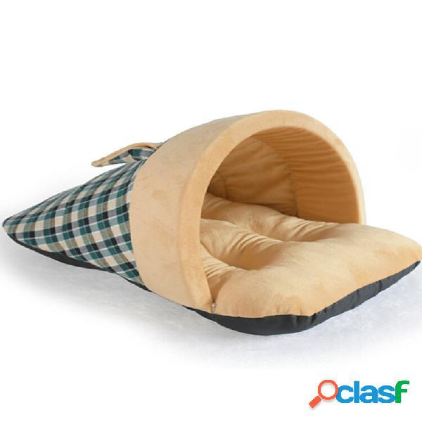 Pet dog cat soft warm sleeping borsa puppy sleeping cave house materassino invernale