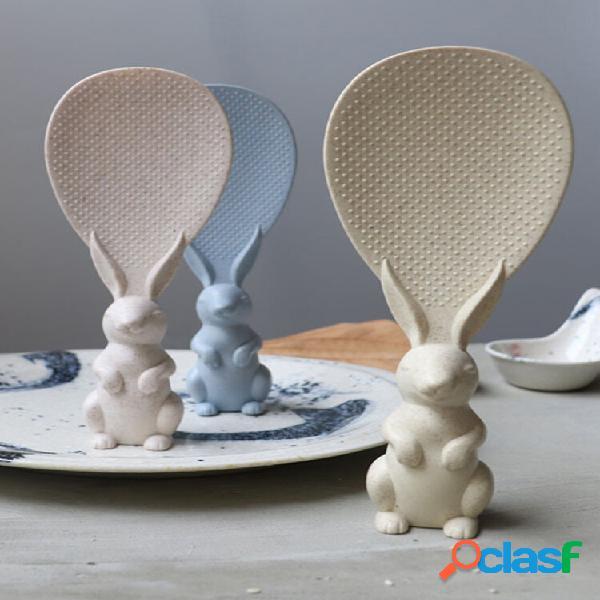 Cucchiaio di riso per pala peter rabbit spoon materiale di protezione ambientale cucchiaio di riso carino creativo