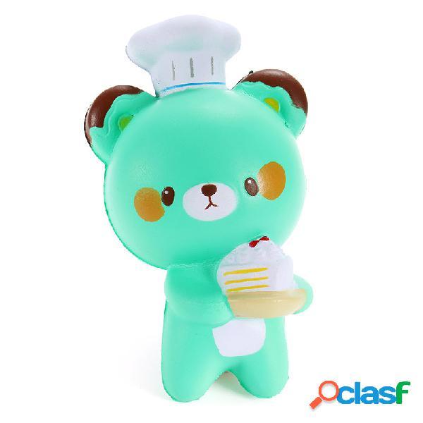 Squishy bear chef padrone jumbo 14cm slow rising collezione decorazione regalo soft squeeze toy