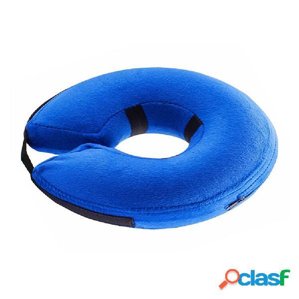 Colore blu pet dog cat collare elisabettiano cucciolo colletto elettronico protettivo per la guarigione delle ferite