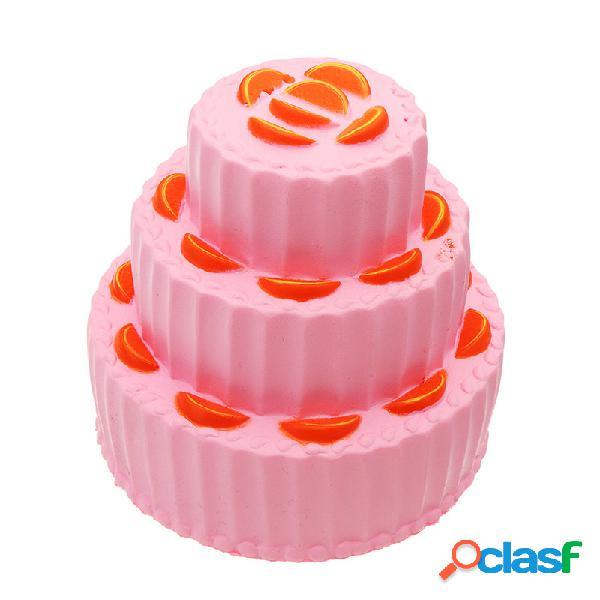 Giocattolo molle del regalo di raccolta antistress di aumento lento lento di tre strati del dolce arancio