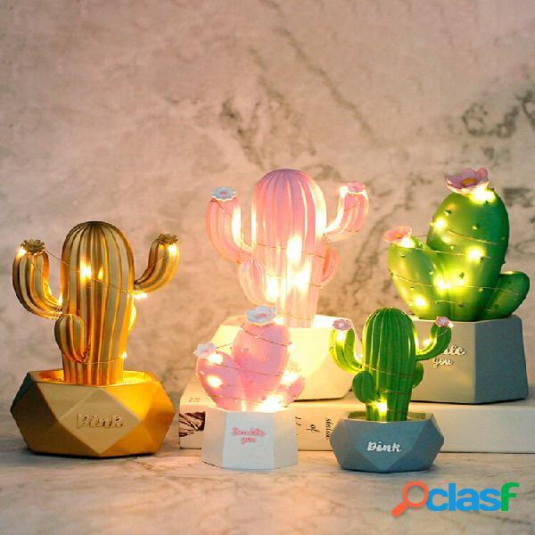 3d cactus led night light wall lampada baby camera da letto per bambini home decor gift