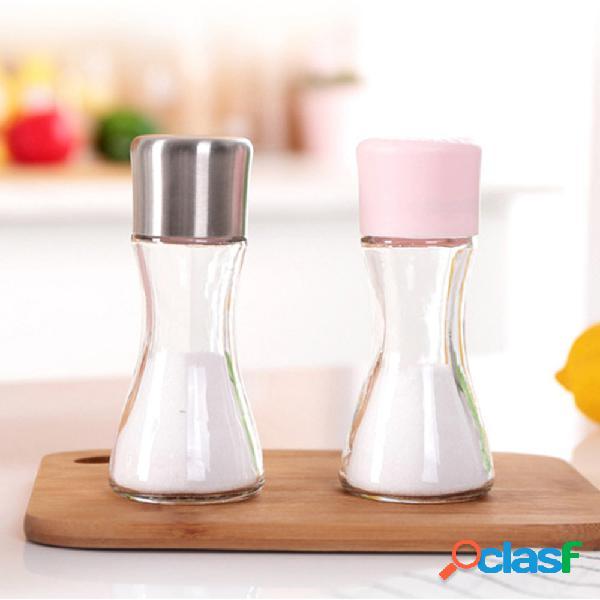 Bottiglia di sale quantitativa salutare happy life sale a tenuta stagna con saliera sigillata a prova di umidità vaso