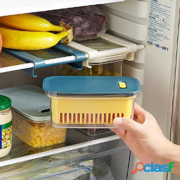 Cassetto 1 pz tipo frigorifero organizzatore bidoni cucina scarico a doppio strato a prova di umidità conservazione dell