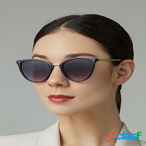 Donna casual fashion metal full frame plus taglia uv occhiali da sole di protezione