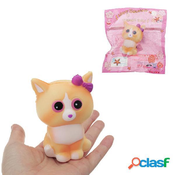 Giocattolo molle del regalo della raccolta in aumento lento sveglio giallo del gatto di squishy con l'imballaggio