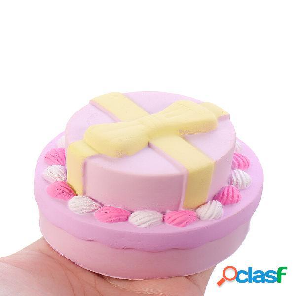 Squishy doppia torta fiocco nodo con confezione regalo collezione