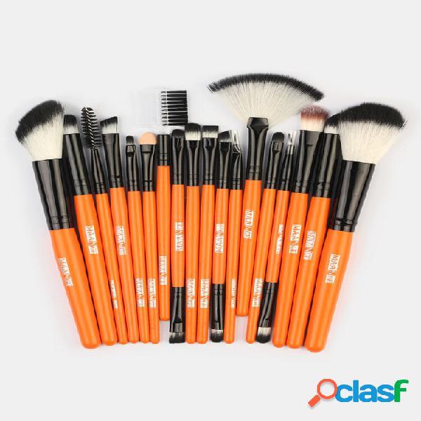 18 pezzi trucco spazzole set ombretto sopracciglio ciglio occhio a ventaglio trucco pennello