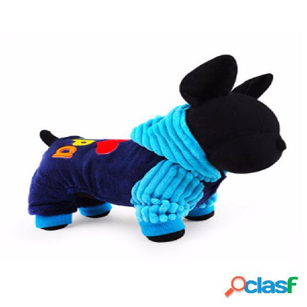 Pet dog cat abbigliamento abbigliamento tuta inverno soft cappotto giacca in pile con cappuccio
