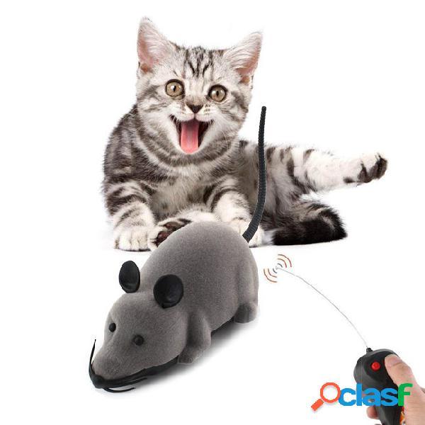 Giocattoli creativi per gatti elettronico remoto mouse di controllo pet cat dog toy realistico divertente giocattolo rat
