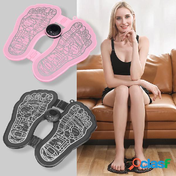 Mini massaggiatore per piedi ricaricabile massaggiatore per piedi portatile a impulsi per uso domestico