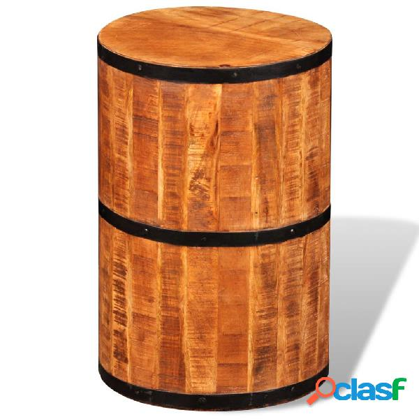 Vidaxl sgabello da bar in legno di mango grezzo
