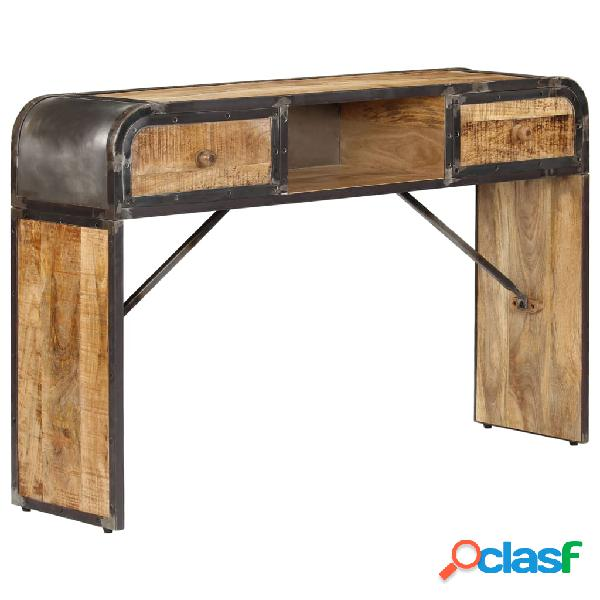 Vidaxl credenza 120x30x75 cm in legno massello di mango