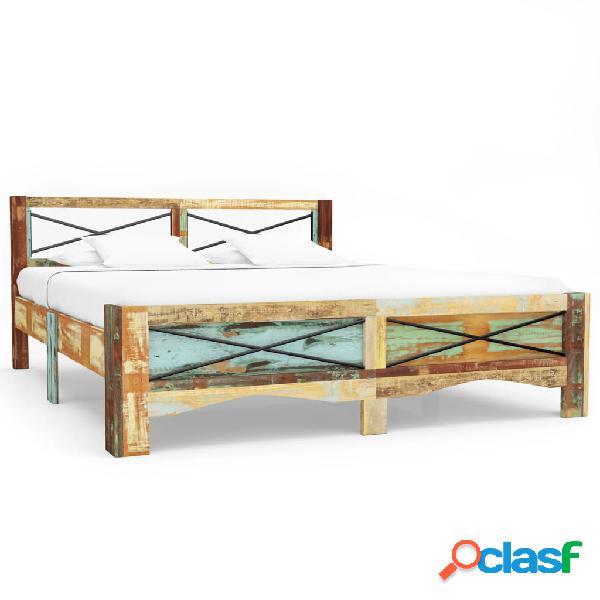 Vidaxl giroletto in legno massello di recupero 160x200 cm