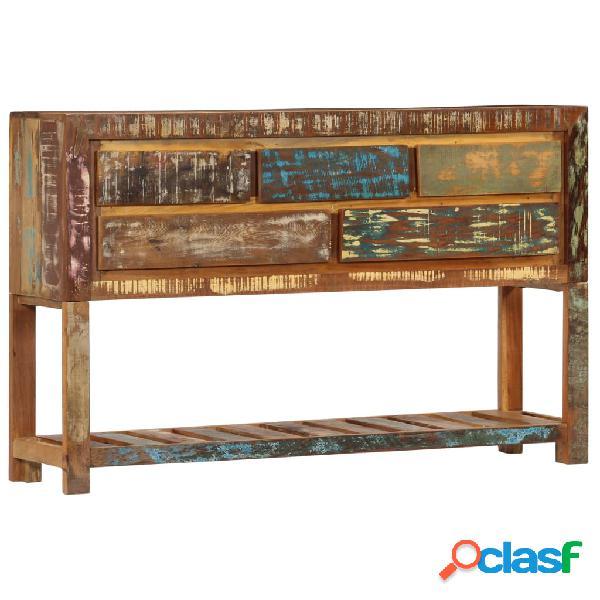 Vidaxl credenza 120x30x75 cm legno massello di recupero